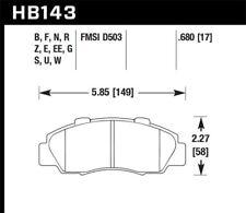 Hawk Disc Brake Pad Front for 91-05 Honda Odyssey & Prelude / Acura TL & Legend