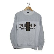 Vintage NCAA Purdue University Boilermakers Sweatshirt Crewneck Pinstripes LARGE
