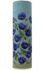 (2 Pack) Tall Tin Flower Vase (blue)