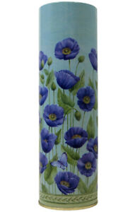 (2 Pack) Tall Tin Flower Vase (blue)