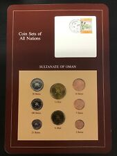 Sultanate of Oman Coin Sets of All Nations Franklin Mint Postal Panel BU Unc