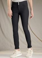 Toad Co Activwear Solid Black Flextime Nylon Skinny Pant Women's 6