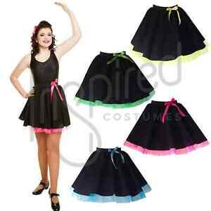 GIRLS Irish Feis Skirt Black with net Dancing Costume Group Dance