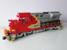 LEGO Eisenbahn custom Train Lok Lokomotive GP40 Santa Fe mit 9V Motor