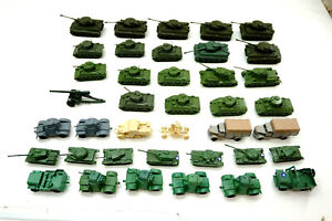 Lot of 35+ American and German WWII Military lot Plastic Hong Kong, etc...