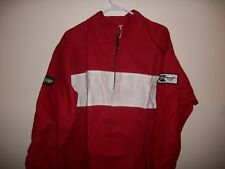 SAFEQUIP SAFETY SFI 3-2A/1 APPROVED RACING JACKET RED LARGE WITH WHITE BILLBOARD