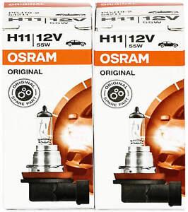 2x H11 headlight bulbs kit car bulb light halogen lamp Osram 64211 12V globes