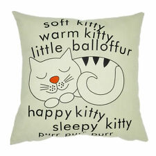 Cat Pillow Case Sofa Waist Throw Cushion Cover Home Decor New Gift LW