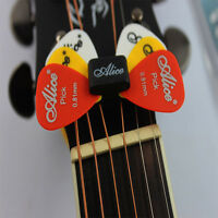 Classic Guitar Head Stock Pick Holder Rubber With 4 Free Picks Guitar Picks