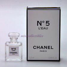 CHANEL Nº 5 L'EAU EDT 1.5 ml / 0.05 oz Micro Mini Perfume Miniature Bottle NEW