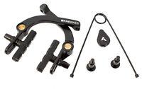 KHE BMX U-Bremse U-Brake Aluminium schwarz mit Springhanger Feder