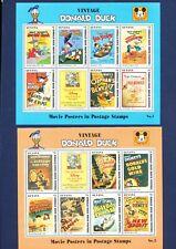 GUYANA DISNEY - $ Error Set- VFMNH S/S - Donald's Movie Posters - 1993 - 3 scans