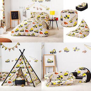 Diggers Design Children's Bedding & Bedroom Furniture Collection Kids Nursery