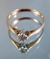 Beautiful Hallmarked 9ct Gold .10 Diamond Solitaire Ring