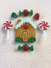 Dress IT UP pulsanti ~ Candy Cottage ~ GINGERBREAD CASA ~ Caramelle ~ LOLLIES