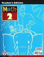 BJU Math 2 Teacher's Edition with CD Third Edition - 2nd Grade