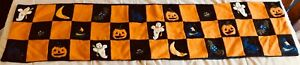 Halloween Table Runner, 51 by 13 Inches, Embossed Figures, Heavy Material