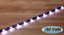 SMD LED Leiste Strip weiß side shine leuchtet seitlich flach Streifen 30cm