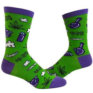 Women's 420 Weed Socks Funny Marijuana Pot Graphic Novelty High Footwear