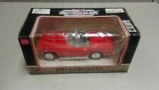1967 CHEVROLET CORVETTE CONVERTIBLE RED 1:24 DIECAST MODEL CAR BY MOTORMAX MIB
