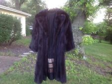 Beautiful real dark chocolate mink fur coat flare sleeves size equivalent to S-M