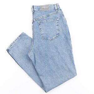 LEE Blue Denim Relaxed Straight Jeans Womens W32 L32