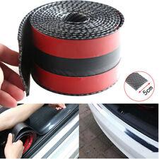 5CM*1M Auto Car Sticker Carbon Fiber Rubber Edge Guard Strip Door Sill Protector