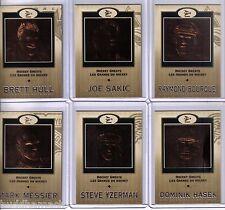 2001/02 McDONALDS PRISM GOLD  6 CARD HOCKEY GREATS SET