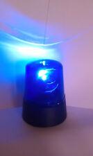 2 X LED Mini Blue Beacon Battery Police Light rotating DJ Disco Lighting