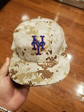 New York NY Mets Desert Digital Camo Fitted Baseball Cap 59Fifty Size 7 1/4 MLB
