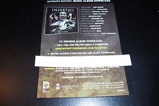 INJUSTICE DOWNLOAD CODE DLC for Ultimate Edition Music Album - NO GAME INCLUDED