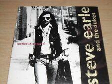 Steve Earle & The Dukes Justice In Ontario CD Single in Card Sleeve DMCAT 1441