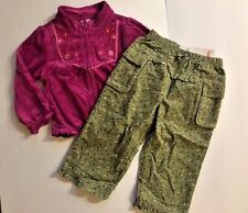 Gymboree 2T Girls Peruvian Doll Velour Cardigan Jacket & Pants Set NWT New Twins