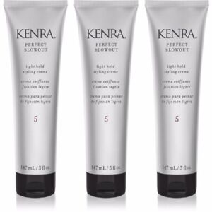 3 PACK KENRA #5 PERFECT BLOW OUT LIGHT HOLD HAIR STYLING CREME 5 OZ CREAM VOLUME