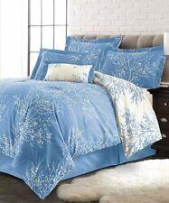 New ListingSpirit Linen Home Light Blue & White Foliage Six-Piece Comforter Set - King