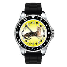 Sokoke Forest Cat Paw Unisex Mens Womens Jelly Silicone Band Wrist Watch Se305