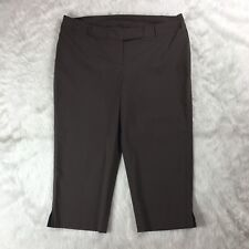 Lane Bryant New Womens Brown Size 24 Career Cropped Casual Pants