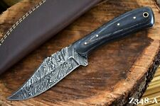 Custom Damascus Steel Hunting Knife Handmade With Wooden Handle (Z348-A)