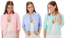 Ladies Pretty Knitted Lightweight Bed Jacket Crochet Design Size UK 8 - UK 26
