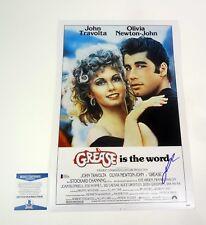 John Travolta Grease Signed Autograph Movie Poster Beckett BAS COA