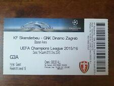 Football ticket Uefa Champions League Kf Skenderbeu-Gnk Dinamo Zagreb