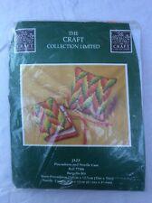 The Craft Collection Ltd Bargello Jazz Pincushion and Needle Case Kit Unused
