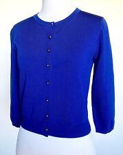 Carolina Herrera Blue Crewneck Cardigan NWT Retail $285 Price $139 Size XS