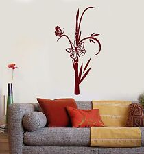 Wall Stickers Vinyl Decal Bamboo Butterfly Interior Art Living Room  (ig1209)