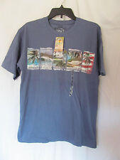 NWT Men's No Bad Days Seaport Blue Beach Theme Graphic T-Shirt Size Small