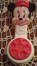 1991 Vintage Disney 6 Inch Mickey Mouse Phone-Rattle -Arco-Baby Mickey