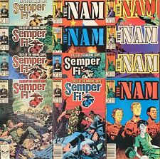 Marvel 12x Issue War Comic Lot, Semper Fi 1 3 5 6 7 8, The Nam 3 7 9 10 13 14