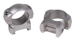 "Weaver Grand Slam Steel Top Mount Rings 1""  X High Silver 49323"