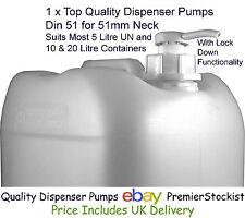 Quality Dispenser Pump 5 litre UN 10L 20L with 51mm neck (DIN 51)
