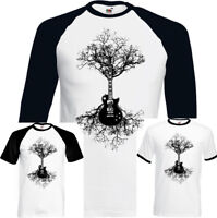 Electric Guitar Tree Mens Funny T-Shirt Acoustic Bass Rock Music Band Strings